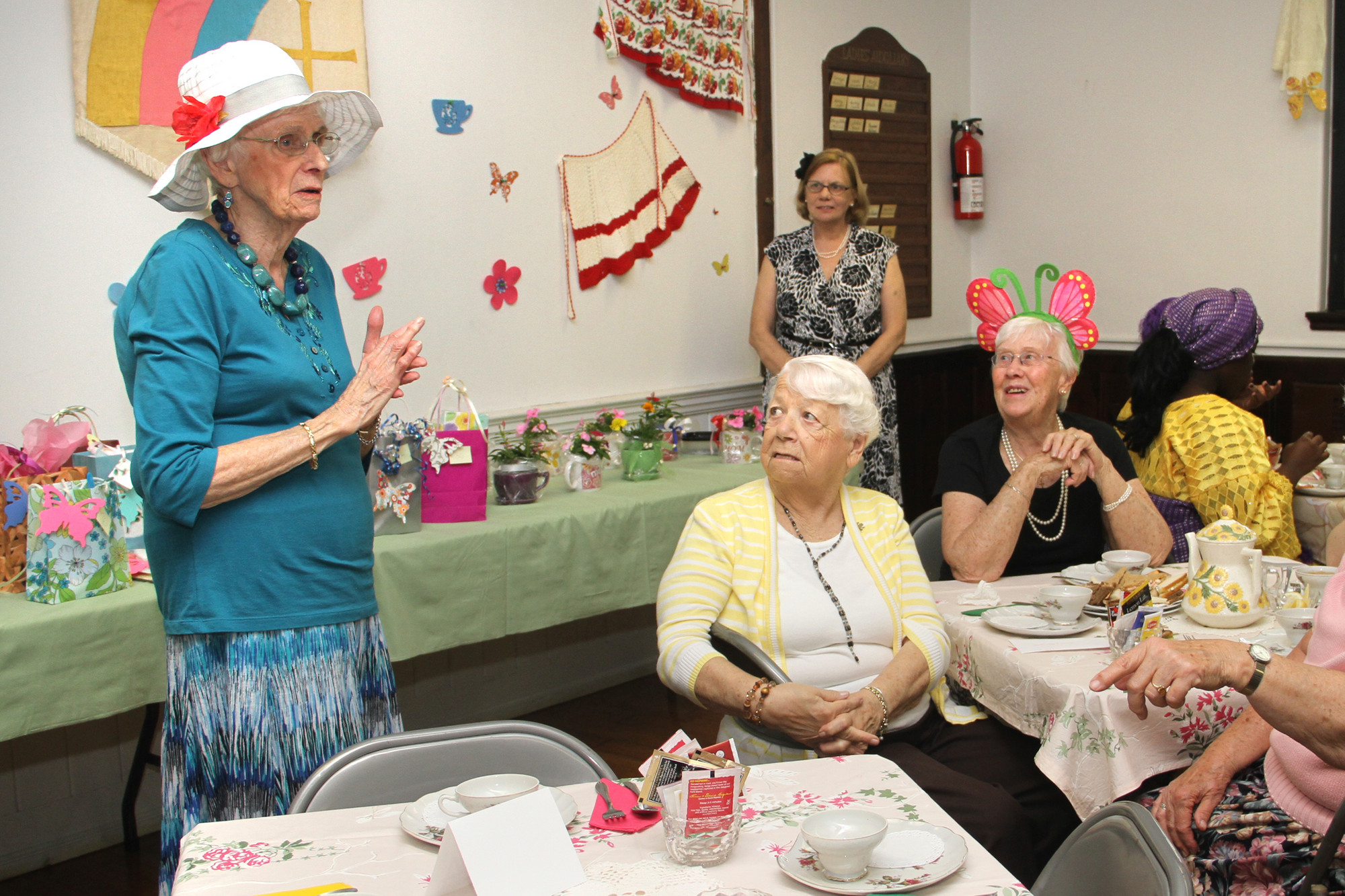 Audrey Conlon welcomed the ladies to the annual Victorian Tea.