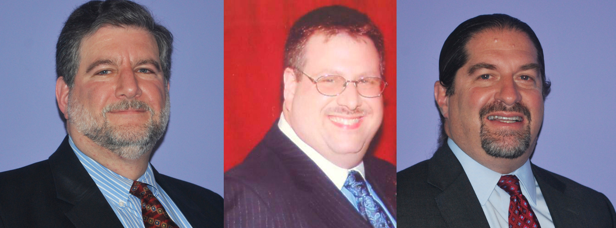 Three candidates are contending for two Board of Education seats in Hewlett-Woodmere. From left are Harold Kislik, Fred Usherson and Mitchell Greebel.