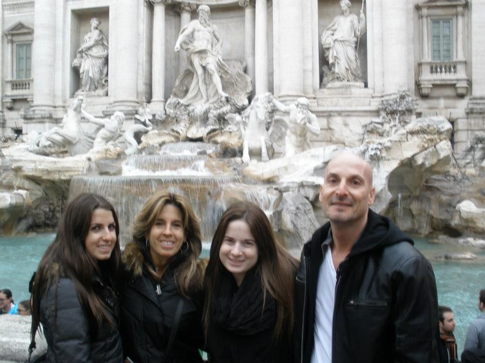 After his battle with brain cancer, Woodsburgh resident Marc Davids and his family cherish each and every day. From left, his daughter Rachil, wife Nina, daughter Alexa and Davids at St. Peter's Square in Italy.