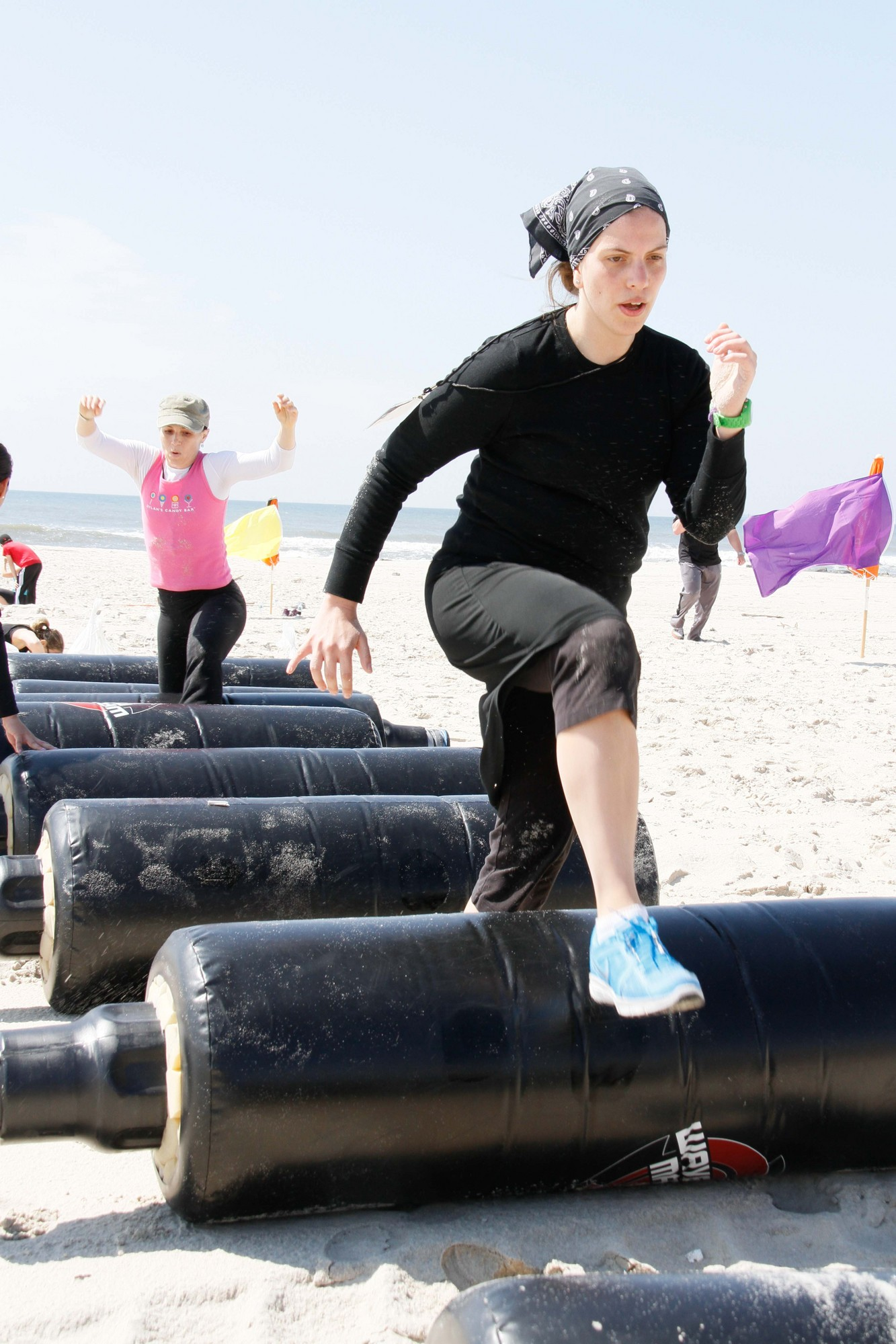 Boot camp exercises such as the obstacle course tested the women's agility as well as endurance.