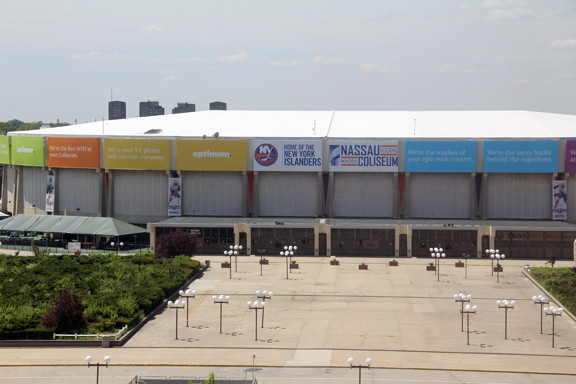 The Nassau Veterans Memorial Coliseum in Uniondale may soon be undergoing redevelopment.