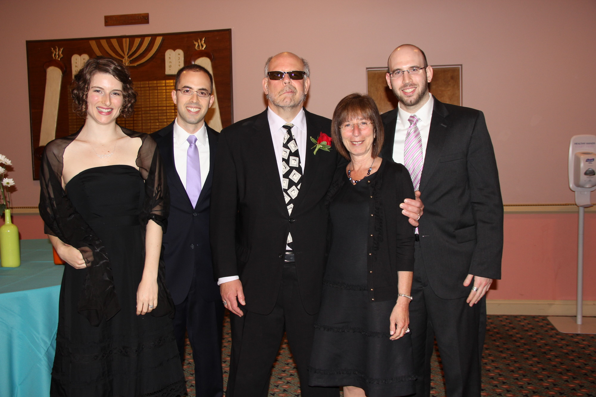 Beth Adler, left, Shai Gruber, Rabbi Marc Gruber, Renee Gruber and Micah