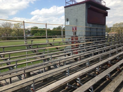 The Bellmore-Merrick Central High School District decided on May 24 to move ahead with a project to replace Mepham High School's worn-out visitors' bleachers with new aluminum bleachers.