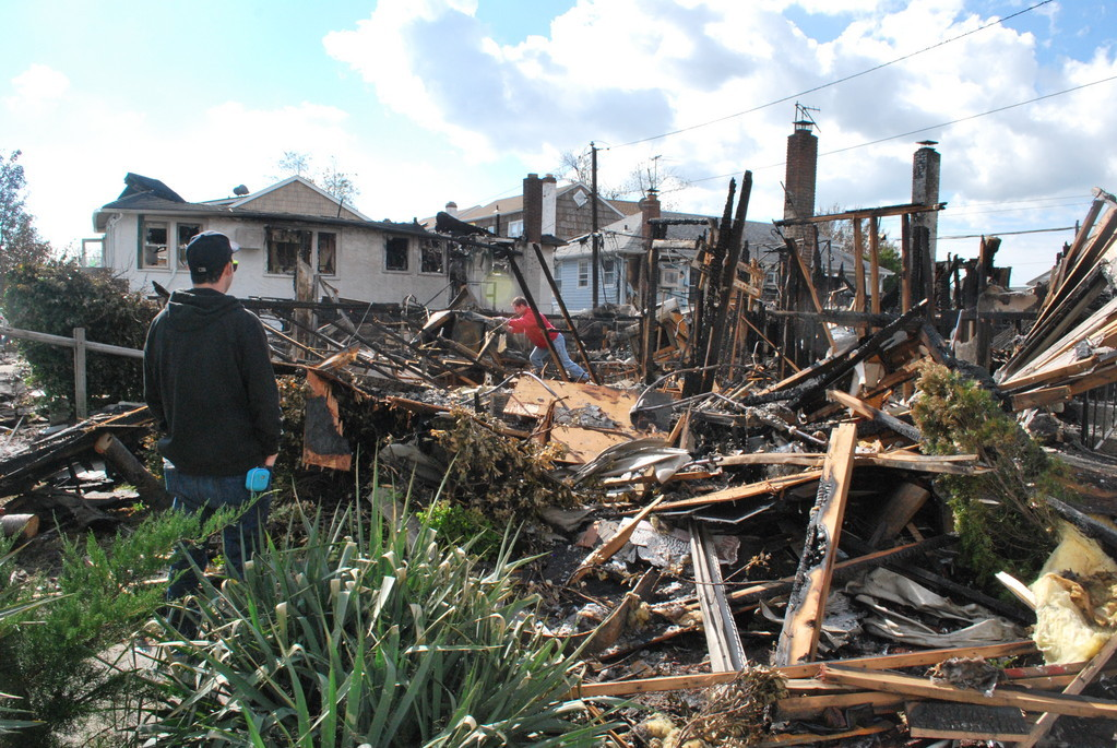 Eight homes in the Canals were destroyed in a fire during Hurricane Sandy.