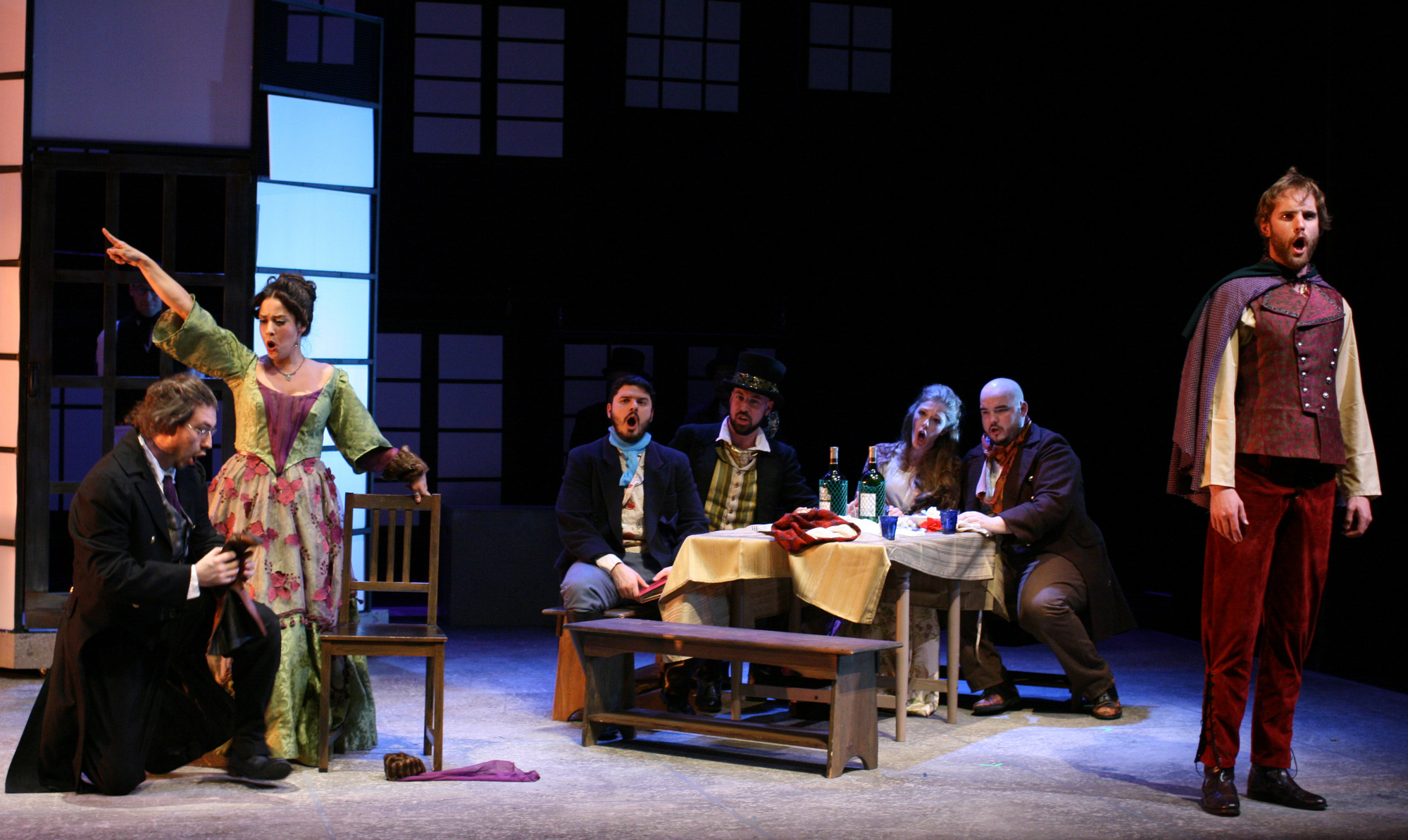 "A scene from the Bronx Opera's ""La boheme."""