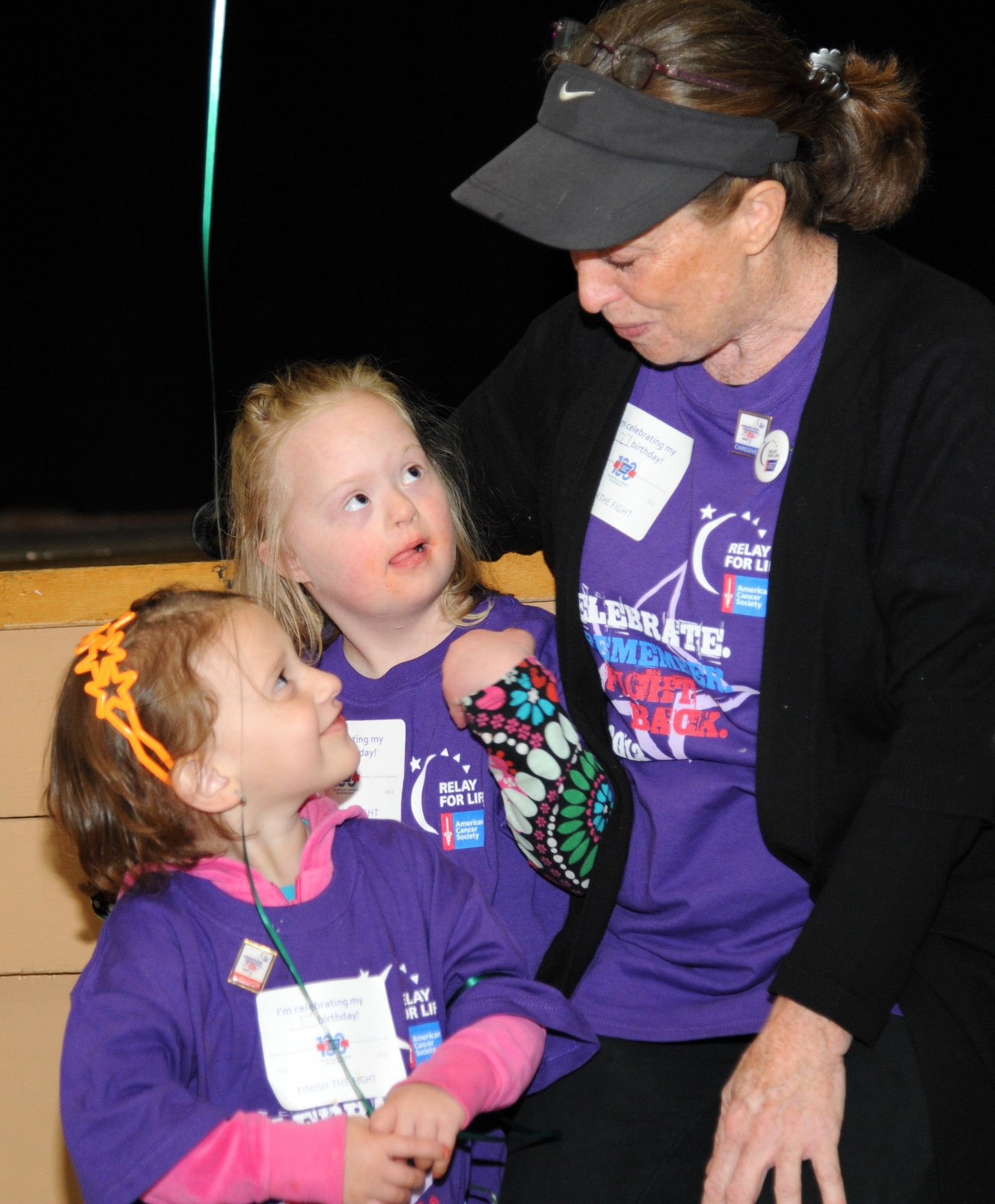 Nathlie cicero, 3, Laura Cervas, 7, and  Pat Alonge joined in the survivor�s walk.