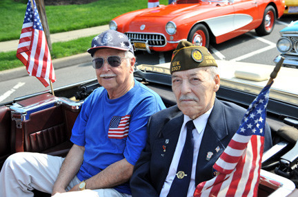 Pictured in last year's parade were Pat Bruno and Peter Crapanzano, both Army, World War II veterans.