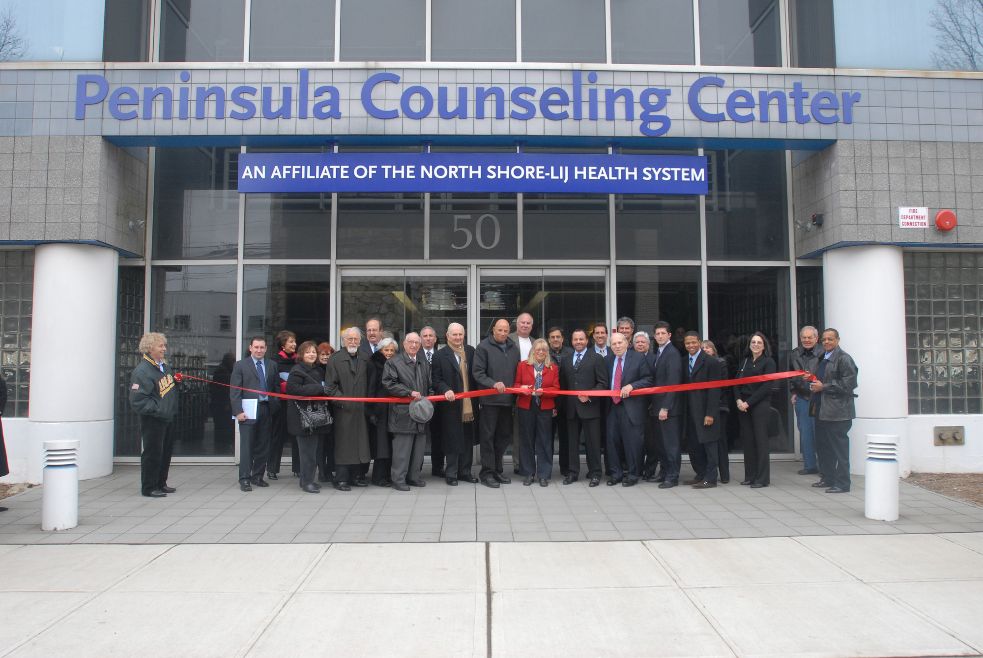 A ribbon-cutting ceremony was held on March 1, 2009 to celebrate the open of the Peninsula Counseling Center's new state-of-the-art headquarters in Valley Stream.