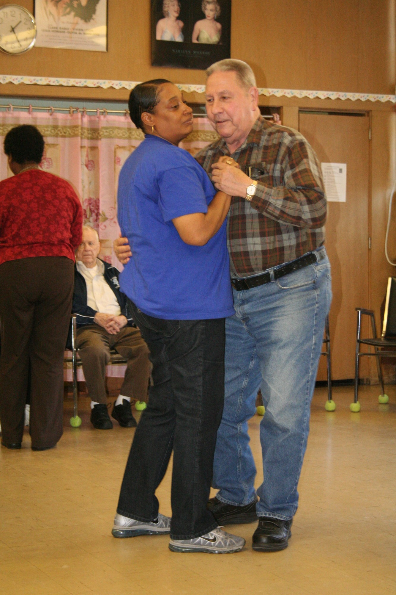 "Merrick resident Ramona Grimm said her husband, Allan, never danced before coming to ""The Club."" Staff member Marie Humphrey shared a dance with Allan."