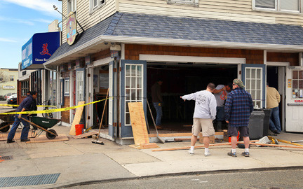The zoning board granted Swingbellys a variance to expand its bar area, and Sullivan is rebuilding the business with more storm-resistant materials, such as concrete floors.