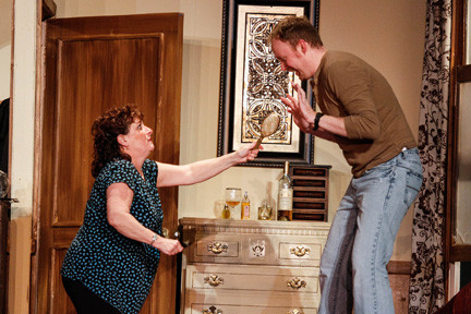 "BroadHollow Theatre stages the comedy ""Sinners"" in Elmont."