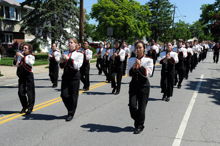The W.T. Clarke High School band provided music during the march.