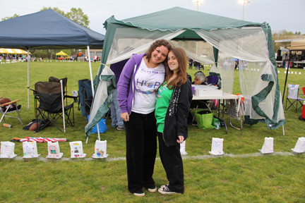 Melanie Maltz and Rachel Kanton raised more than $2,000 to support cancer research.