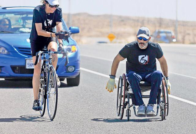 Suheil Aghabi — known onscreen as Gabriel Cordell — wheeled across New Mexico in early May.