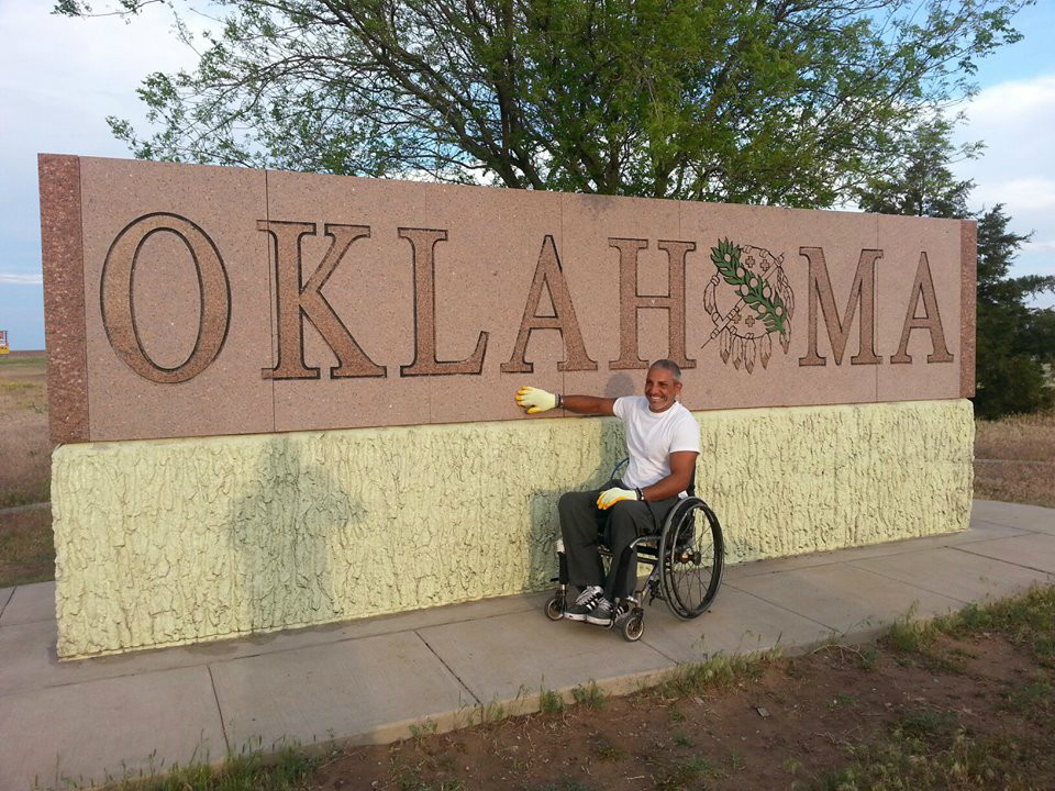 While inspiring others on his journey across the country, Aghabi encourages his followers to aid recovery efforts in Oklahoma by making a donation to www.news9.com to support displaced families.