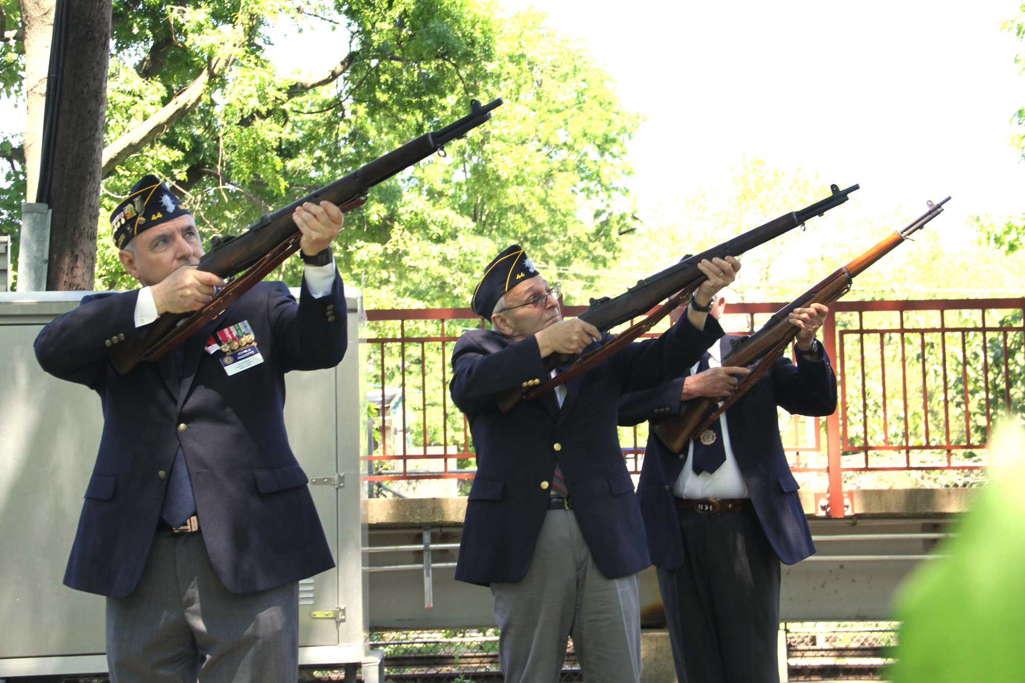 Malverne vets give the gun salute.