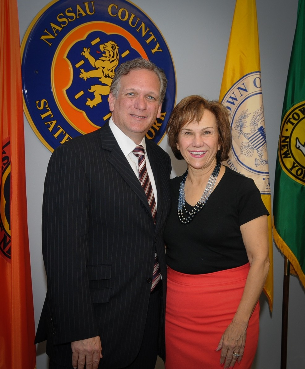 County Executive Ed Mangano welcomed Joan MacNaughton as Lead Ambassador for Cultural Arts.
