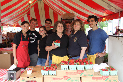 Volunteers from the Kiwanis Club of Bellmore and the Bellmore Lions Club sponsored the event and sold strawberry products to benefit local residents in need.