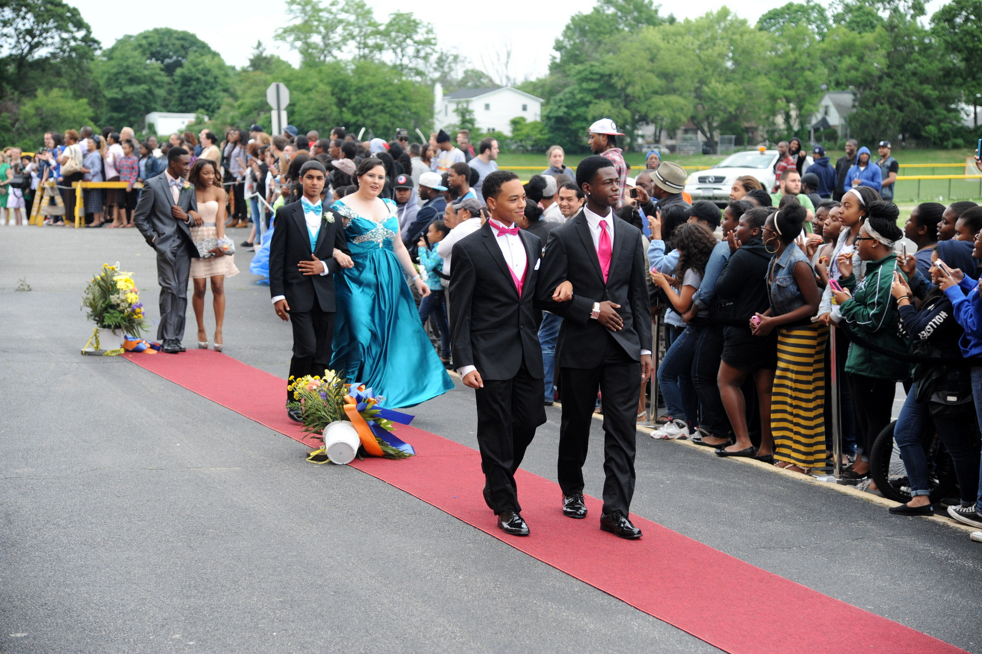 Anthony Austin, 17, and Ashanti Graham, 17, head to their prom.