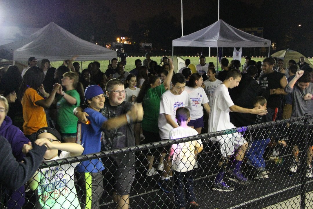 A dancing competition  helped keep spirits high 