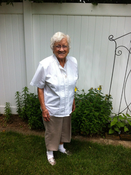 Antoniette Vicoli recently turned 100. She still lives in her North Bellmore home, where she maintains a victory garden.
