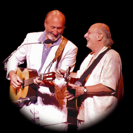 "Sixties icons Peter Yarrow and Noel ""Paul"" Stookey perform classic ""Peter, Paul and Mary"" tunes at NYCB Theatre at Westbury on Friday."