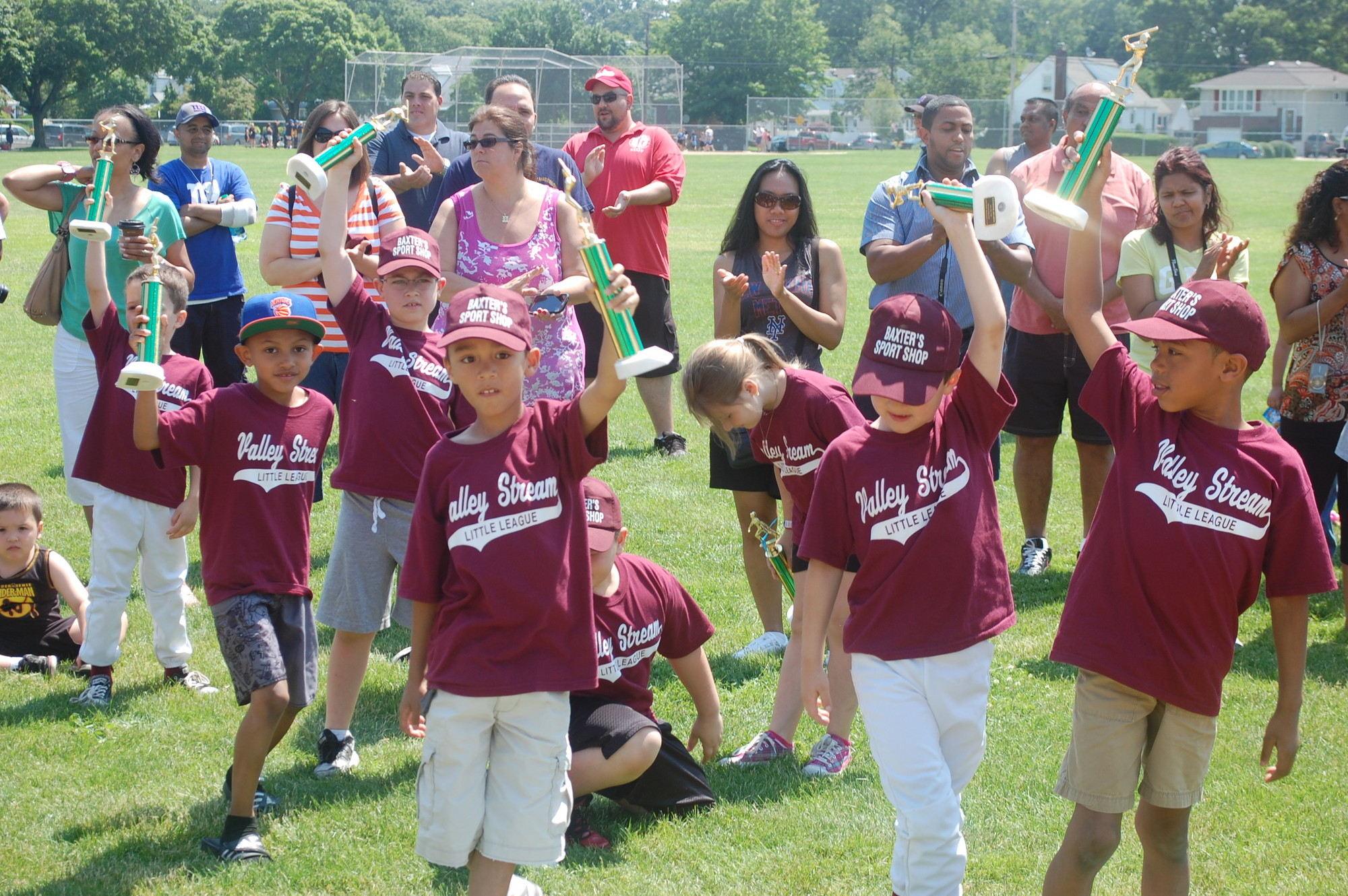 Players from The Valley Stream Little League received their trophies last Saturday morning at Firemen's Field to mark the end of the 2013 season.