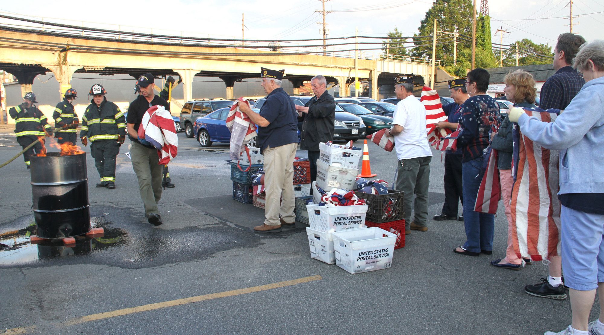 American Legion Post 854 properly disposed of old American flags on June 14.