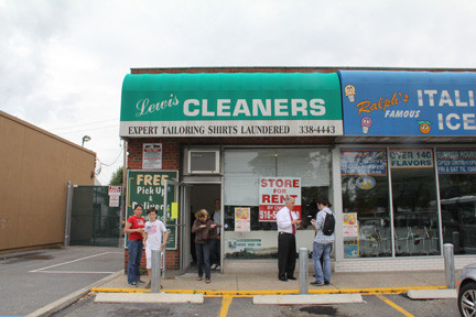 The owner of Lewis Cleaners on Carman Avenue in Salisbury was evicted on June 5, leaving hundreds of residents' clothes in limbo.
