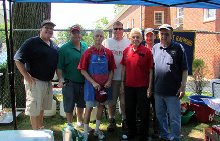 The Knights of COlumbus offered burgers and refreshments.