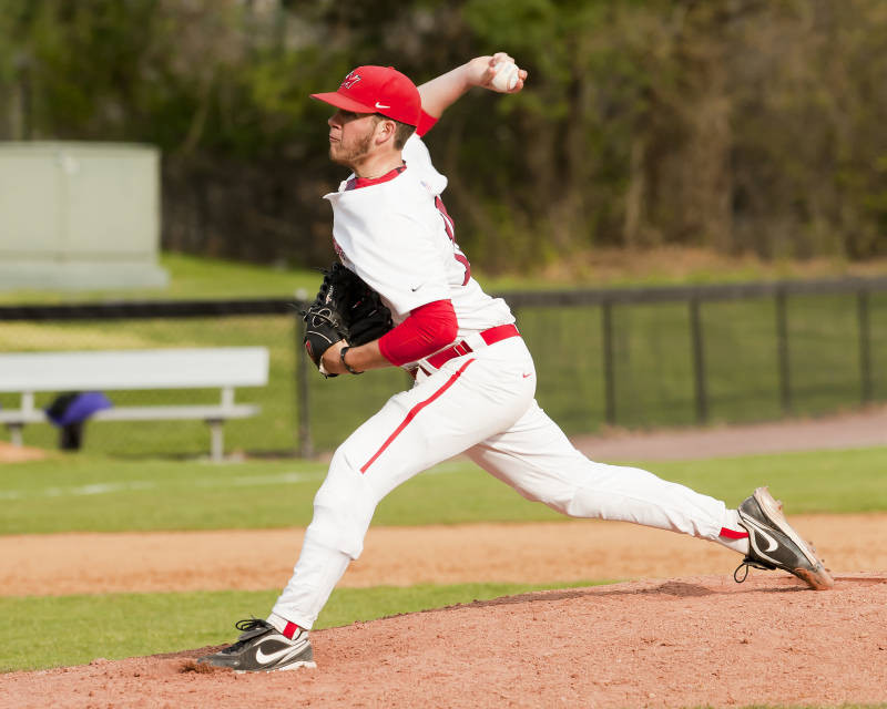 McCarthy pitches for Marist College.
