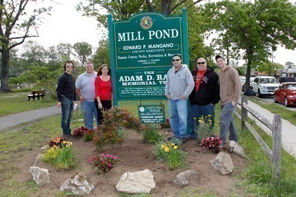Scott Anderson, a local landscape designer, donated plants, flowers and shrubs near the Mill Pond entrance on Merrick Road, at the request of the South Bellmore Civic Association.