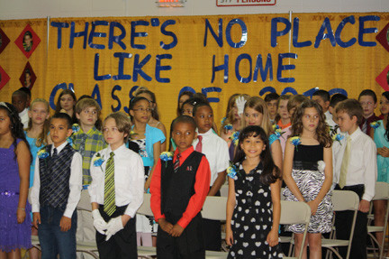 Fifth-grade West School students returned for their promotion ceremony.
