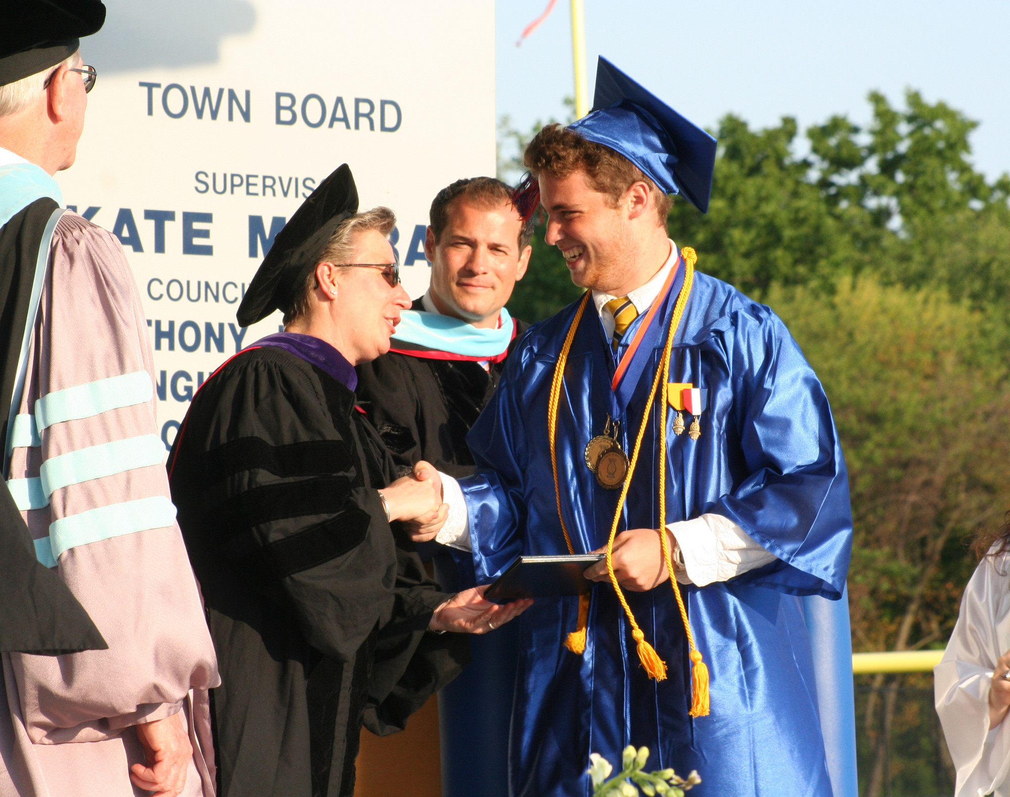Adam Ciccarello, a member of the National Honor Society, received his diploma.