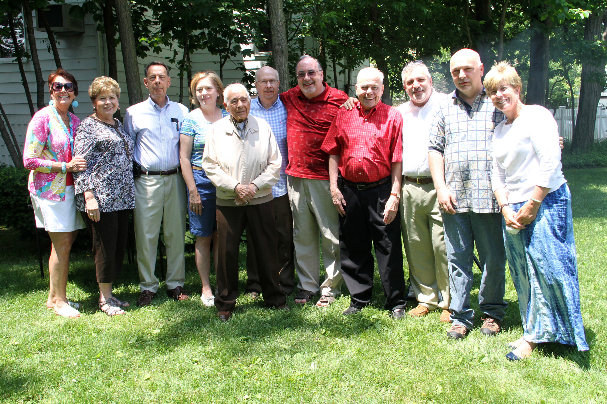 Board Members Tricia Cook, Rosalie Pampillonia, Village Historian David Weinstein, Candace Baranello, Vito Ilardi, Phil Ballin, Ed Hassel, Deputy Mayor Joseph Hennessy, President Robert Powers, John Soran and Mayor Patti McDonald.