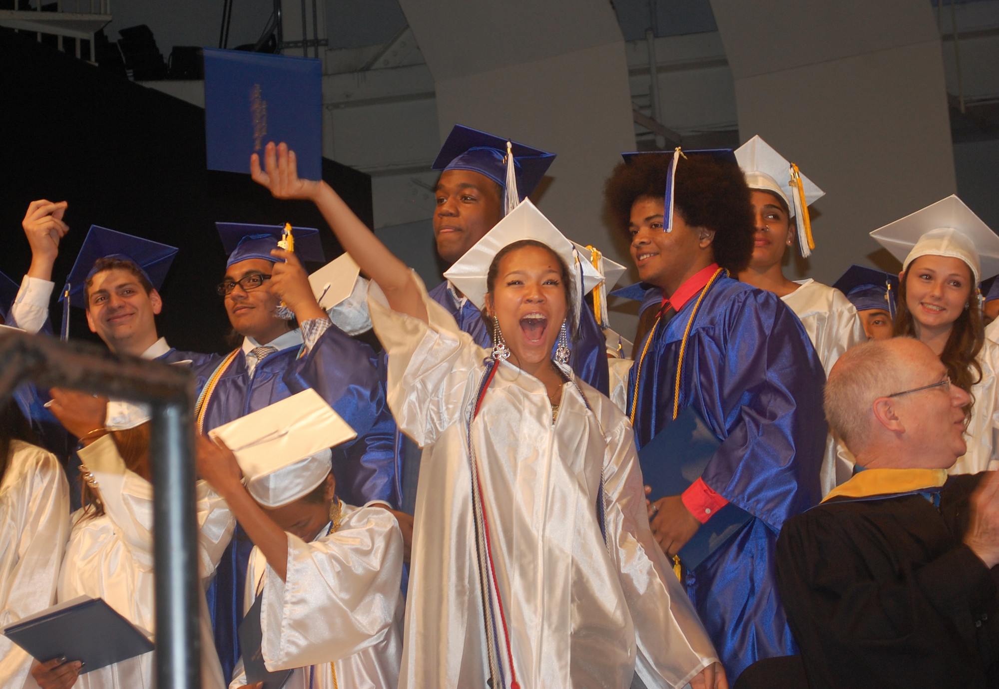 Yumiko Siev was one of 340 students to graduate from Central High School on June 19, the first time the ceremony was held at the Tilles Center.