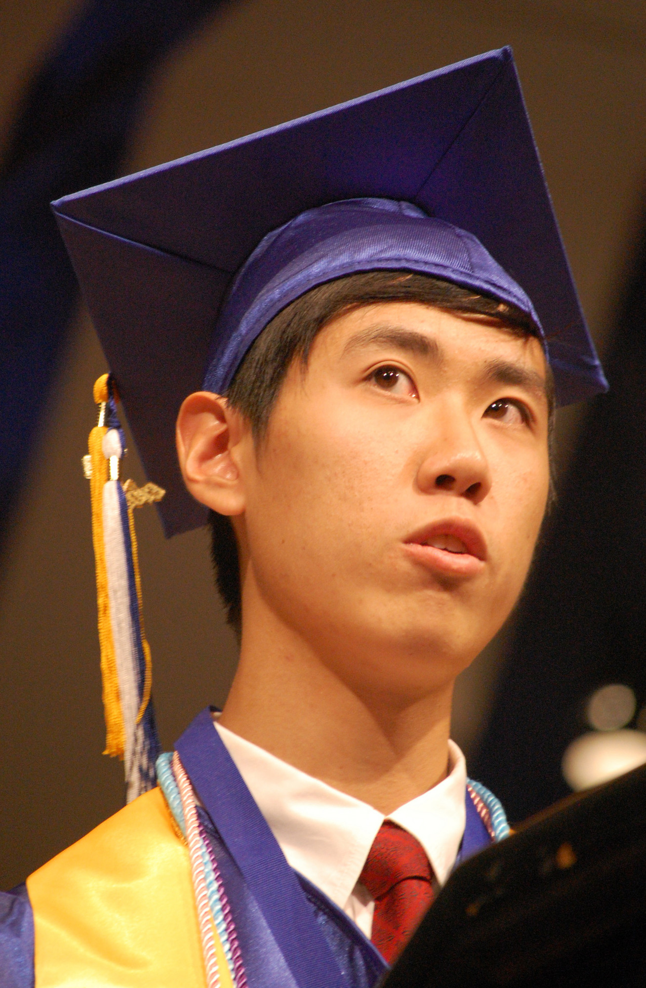 Valedictorian Chung Wei Jason Shen addressed his fellow graduates.
