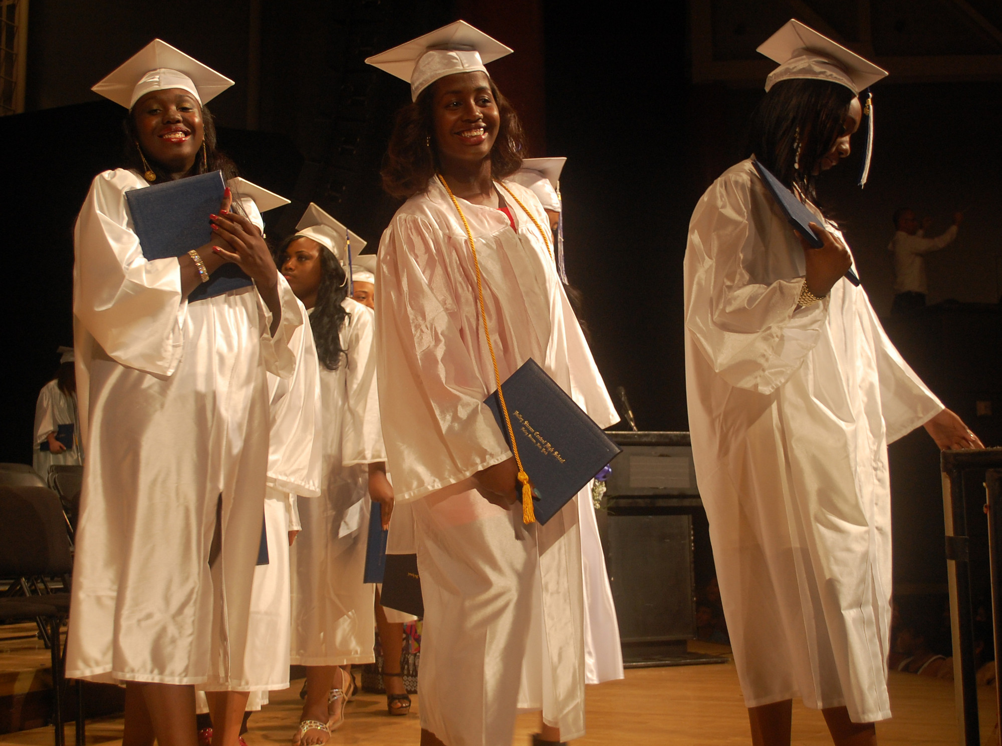 With diplomas in hand, Central graduates were all smiles on June 19.