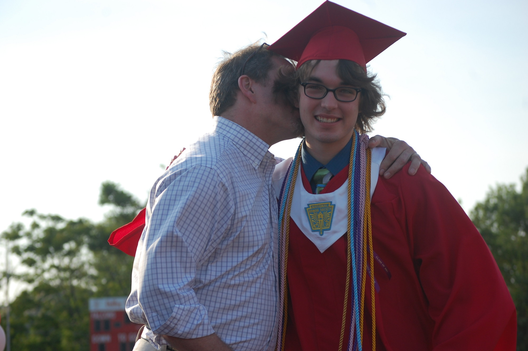 Graduate Sean Wraith got a big congratulations from his father, Ian.