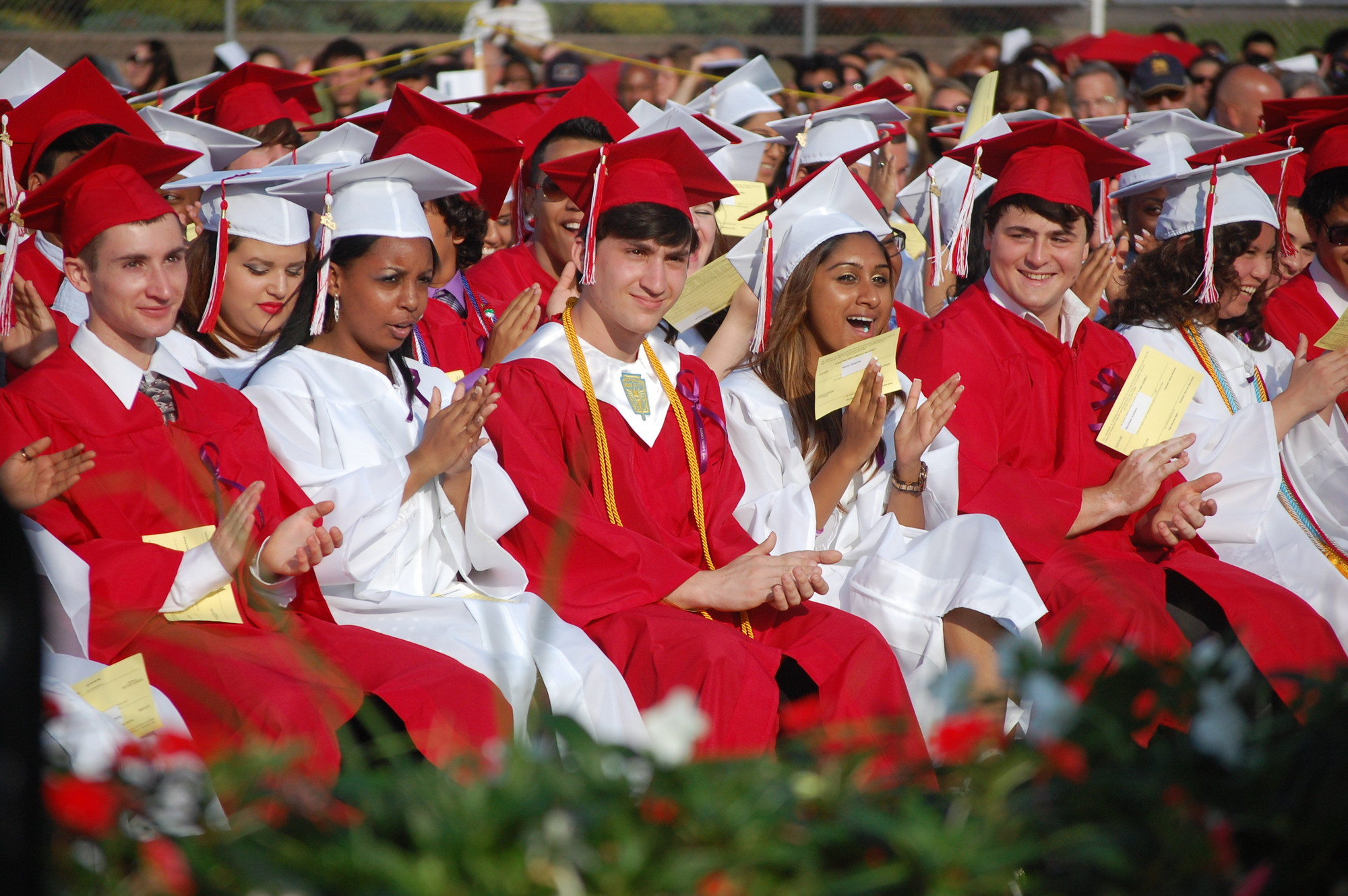 South High School graduates enjoyed sunny skies for their ceremony.