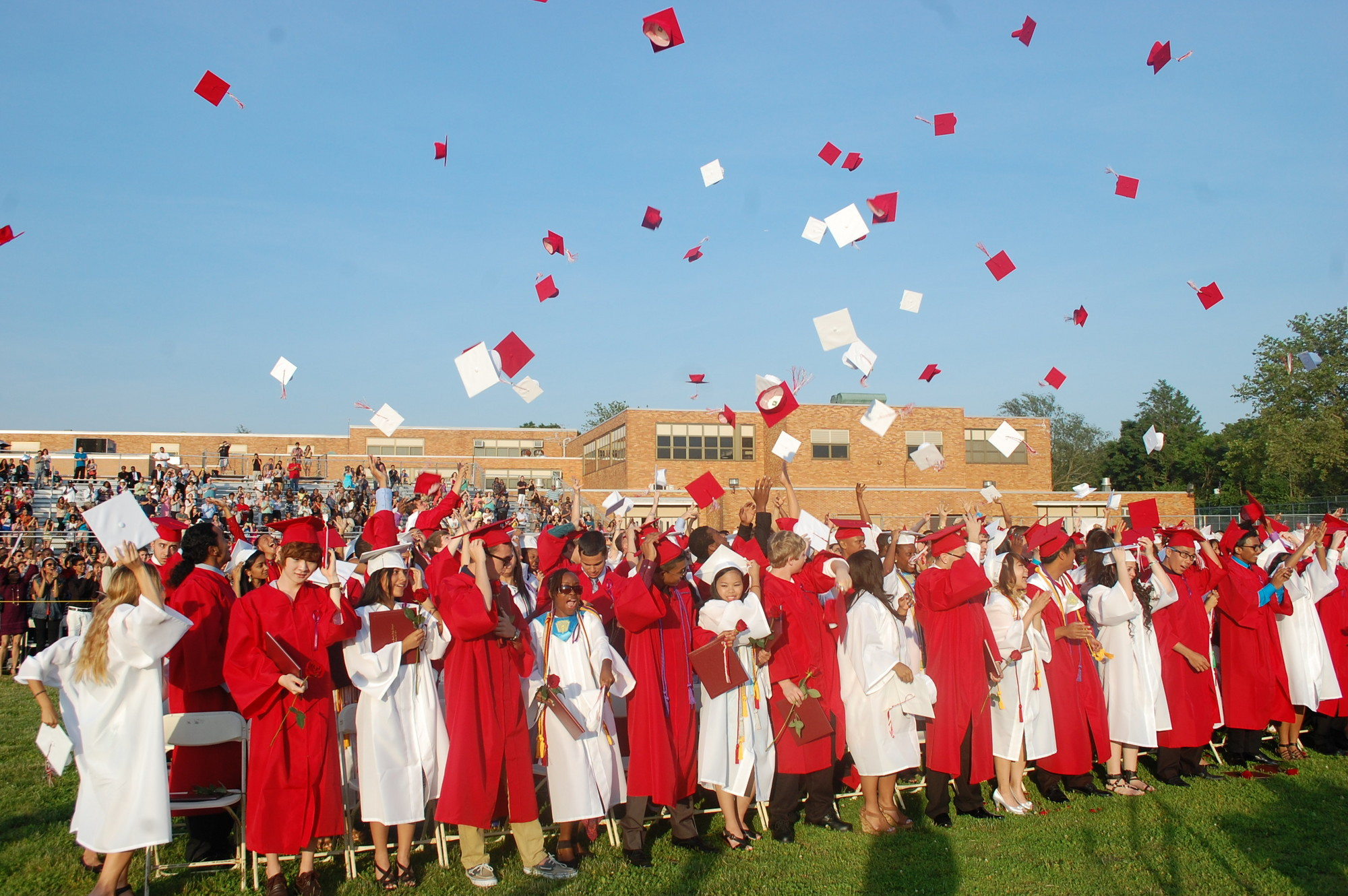 South High graduates celebrated with fanfare.