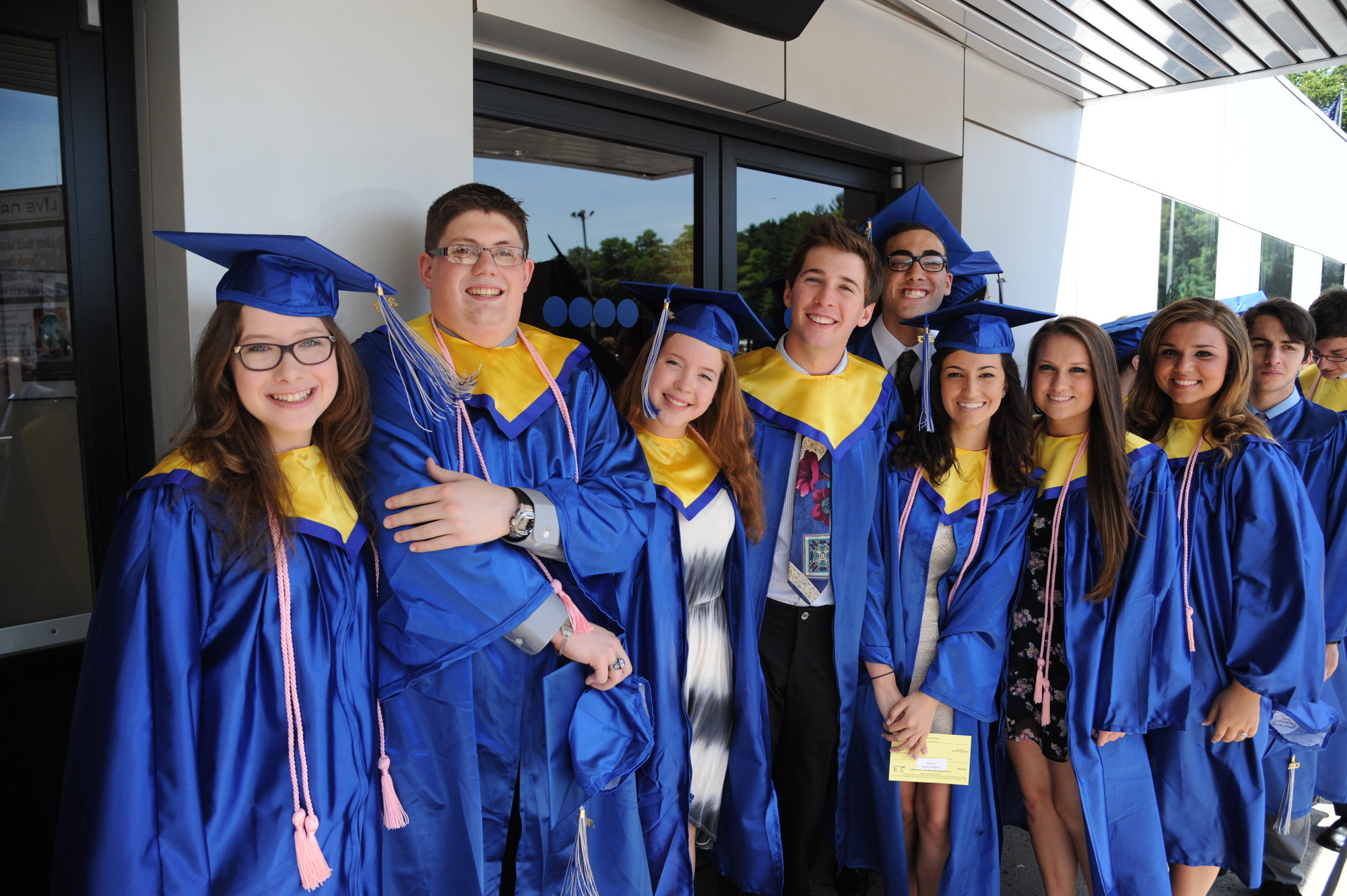 Calhoun's class of 2013 was ready to graduate at the NYCB Theater in Westbury.