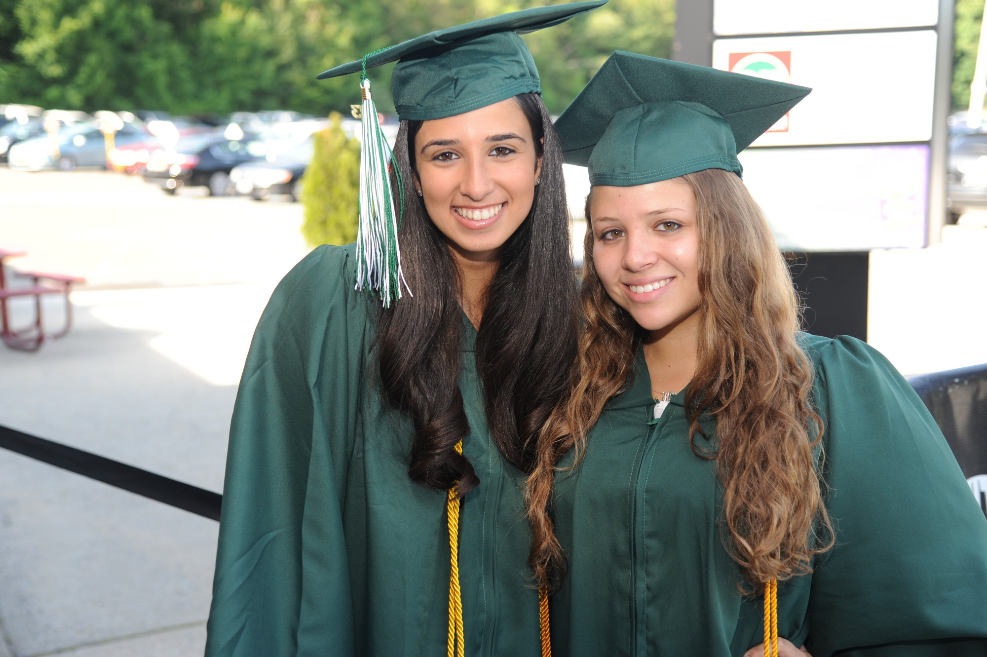 Samantha Sherman, left, and Allison Segal were among Kennedy�s graduates.