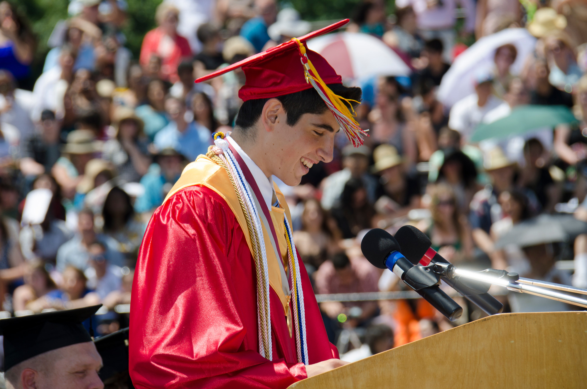 W.T. Clarke salutatorian Alexander Evangelatos encouraged his peers to experience new things and to not be afraid to fail.