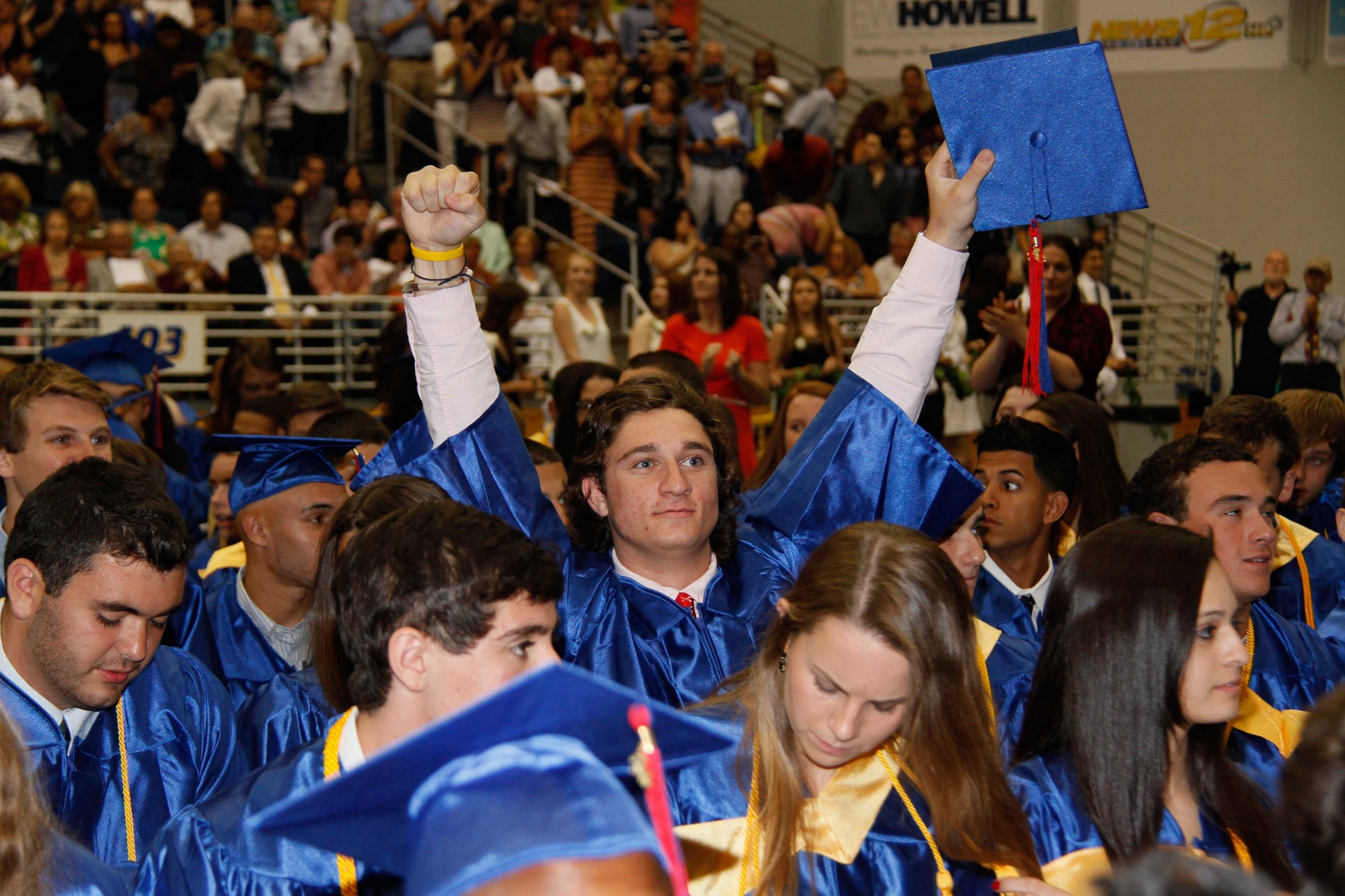 Connor Daly celebrated his graduation from South Side High School.