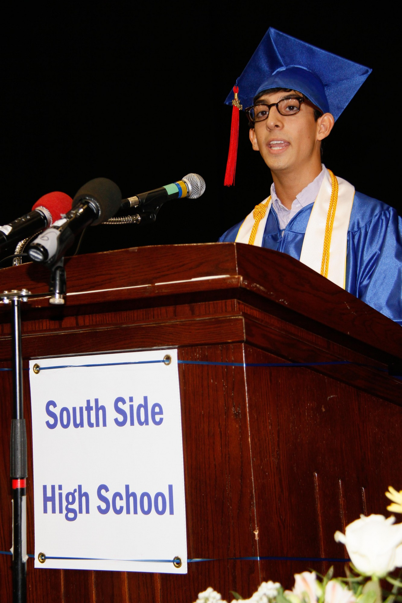 Class President Michael Garcia addressed his fellow graduates.