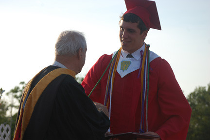 Christopher Infantino received his diploma from Board of Education President Tony Iadevaio on June 21.