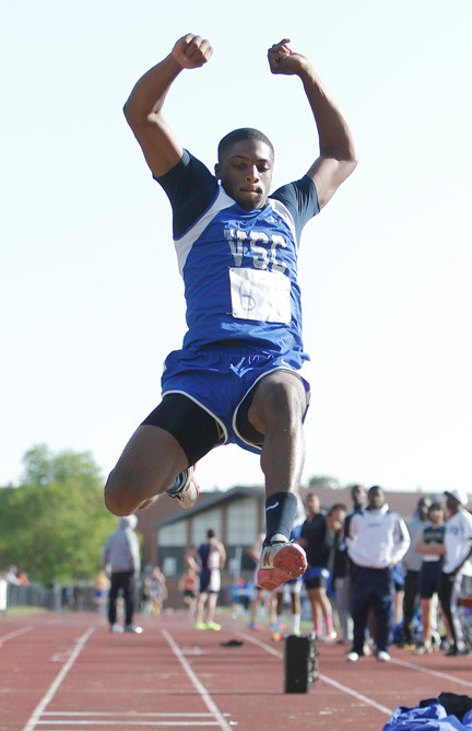Senior Seth Williams scored in all three jumping events, including a win in the High Jump, to help Valley Stream Central to the Division 1B title.