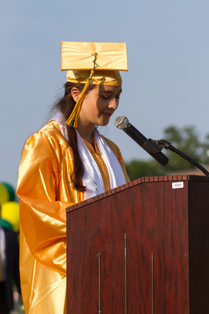 SAlutatorian Melissa Epstein said that new situations should be seen  as an adventure.