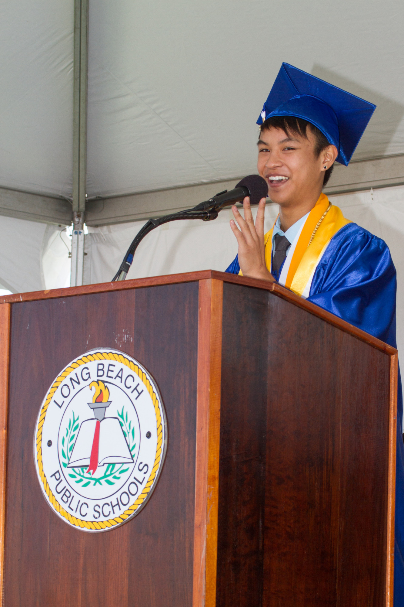 Salutatorian Carlo Sevilla will attend Macaulay Honors College this fall.